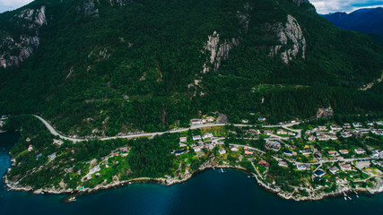 Norway, aerial photos, landscape, sea, mountains,