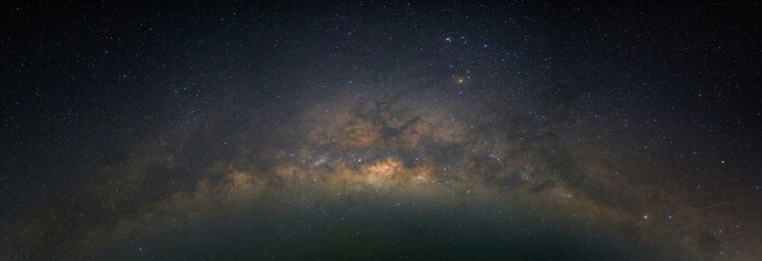 Autocollant pour porte Univers Milky way, star, and space in night time
