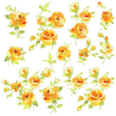 抽象的な薔薇素材