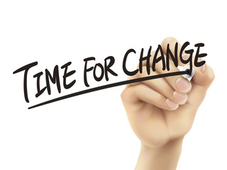 Time for change written by hand