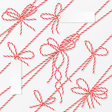 Bakers twine bows, ribbons and labels
