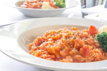 トマトソースのリゾット