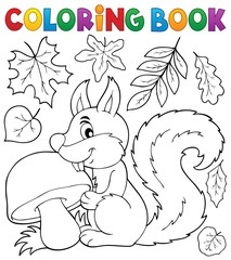 Coloring book squirrel theme 2