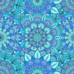 Flower Pattern Intricate Blue