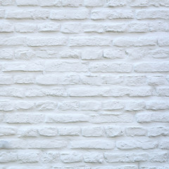 Printed roller blinds Brick wall square part of white washed wall