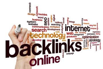 Backlinks word cloud concept
