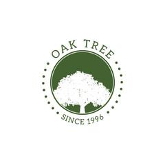 Oak Tree Badge Logo Creative Design