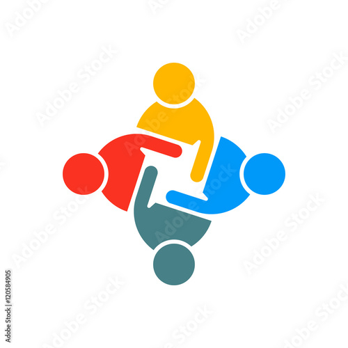 quot people group teamwork logo vector graphic design
