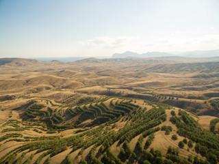 Aerial landscape in Crimea