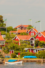 Typical swedish wooden houses in Karlskrona