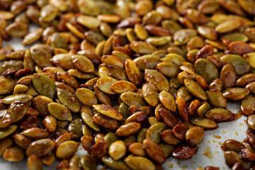 Roasted spicy pumpkin seeds