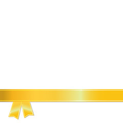 Gold Ribbon on white background