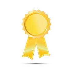 Gold Seal Award Ribbon on white background
