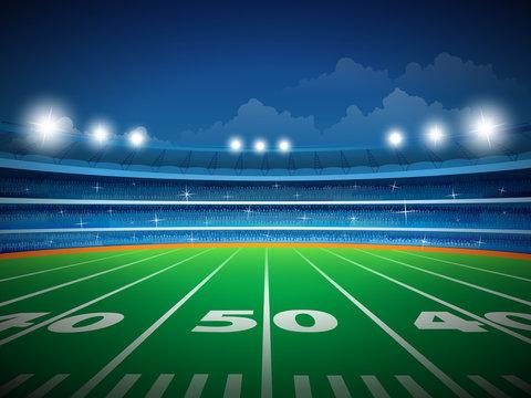 American football stadium with crowd