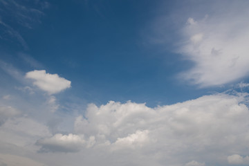 Clouds and blue sky background.