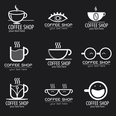 Set Coffee Logo Modern Design, Coffee Concept, vector 10