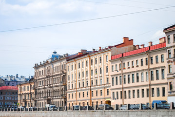a magnificent facade on St. Petersburg waterfront