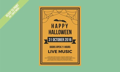 halloween poster vector orange