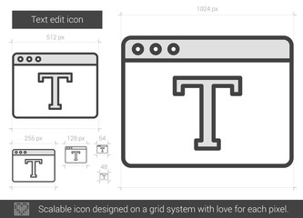 Text edit line icon.