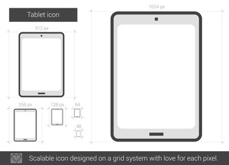 Tablet line icon.