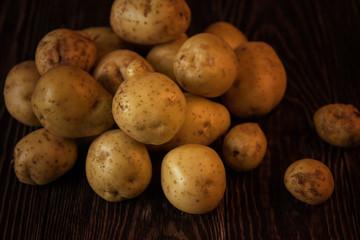Freshly grown potato