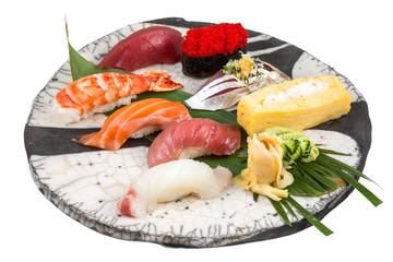 Japanese sashimi sushi set