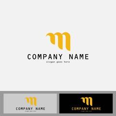 gold letter M logo