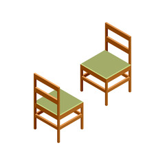 3D isometric chairs