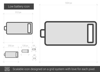 Low battery line icon.