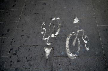 Fahrradpiktogramm in Italien
