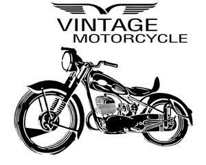 силуэт мотоцикла, ретро эмблемы и этикетки