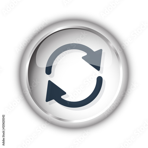 """Web button with black Refresh icon on white background ..."