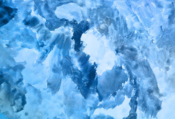 light blue watercolor grunge background