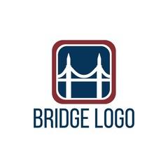 Bridge connection logo template