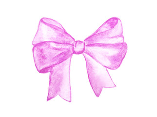 Hand painted bow on white background