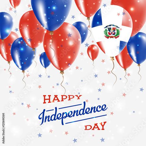 Dominican Republic Vector Patriotic Poster Independence Day - Dominican republic independence day
