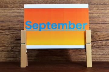 September/Septemberのカードは自作しました。