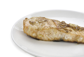 A food is fried fish and vegetable.