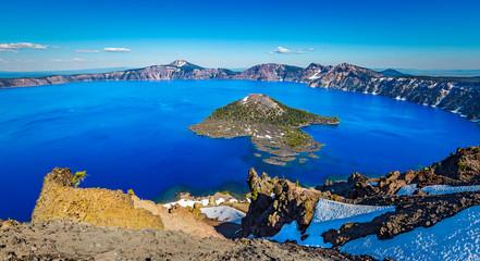 Fototapete - Deep blue lake