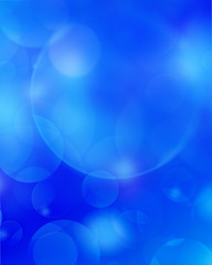 Blue abstract background circle lights bokeh