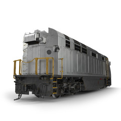 Diesel Electric Locomotive isolated on white 3D Illustration