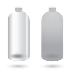 Plastic bottle with dispenser design on white background.