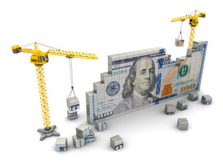 cranes and money