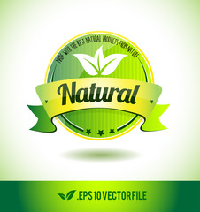 Natural badge label seal text tag word