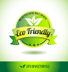 Eco friendly badge label seal text tag word