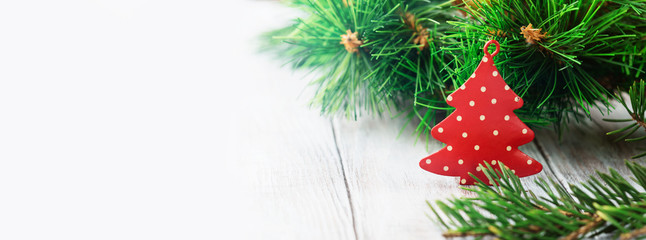 Christmas background with holiday decorations