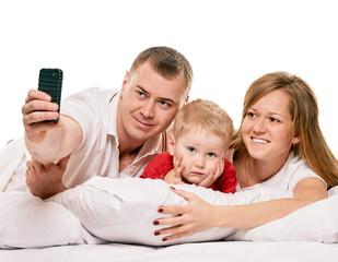 Selfie happy family