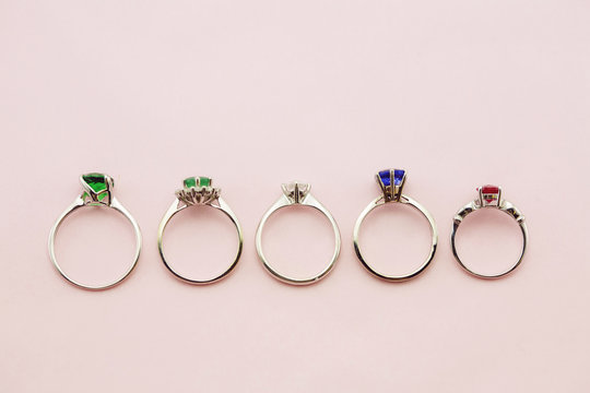 Collection of luxury engagement rings