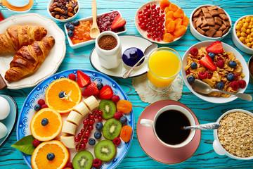 Breakfast buffet healthy continental coffee