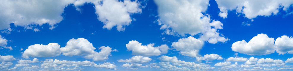 Aluminium Prints Heaven high resolution panoramic sky background with white Cirrocumulus clouds